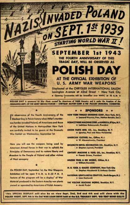 Variou's Polish Day – Nazis Invaded Poland On Sept. 1st 1939 (1943)