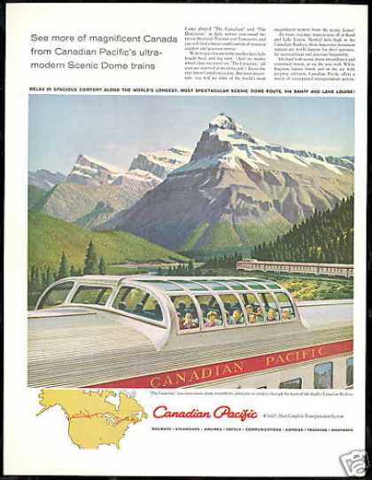 Canadian Pacific Domeliner Train Railroad (1959)
