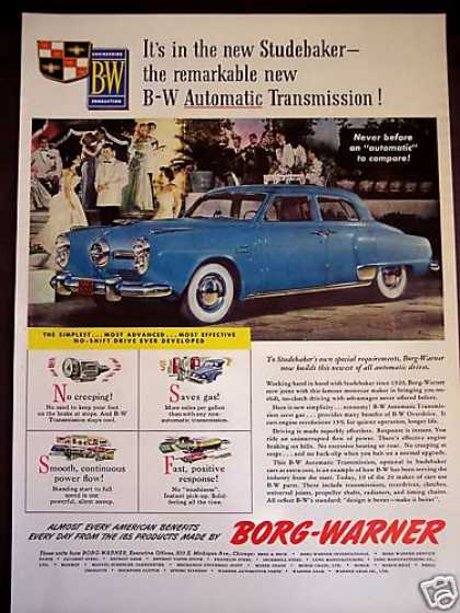 Studebaker Car Photo Borg-warner Transmission (1950)