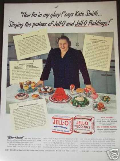 Original Singer Kate Smith Jello Jell-o Photo (1942)