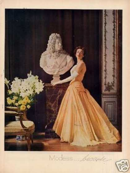 Modess Ad Lady In Peach Gown (1951)