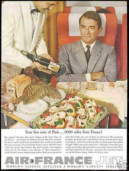 Air France Airlines Gregory Peck Photo Vintage (1960)