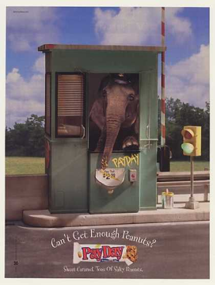 Elephant in Toll Booth Pay Day PayDay Candy Bar (2000)