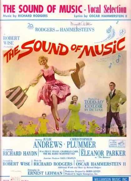 The Sound of Music Movie Music Book with Julie Andrews (1959)