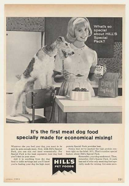 Wire Fox Terrier Hill's Special Pack Dog Food (1964)