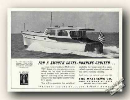 Matthews 38 Cruiser Photo Port Clinton Oh Promo (1946)