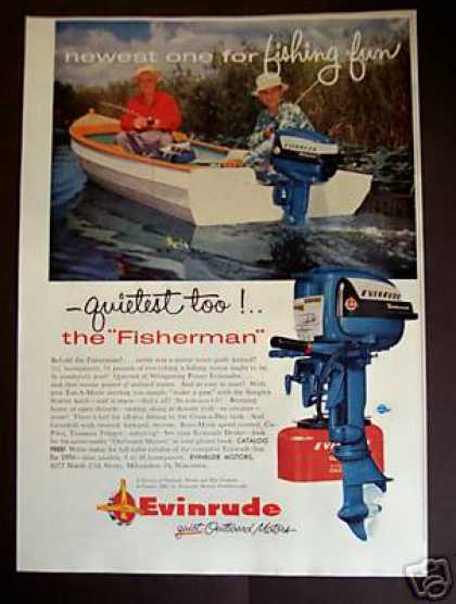 Evinrude 5 1/2 Hp Outboard Motor the Fisherman (1956)