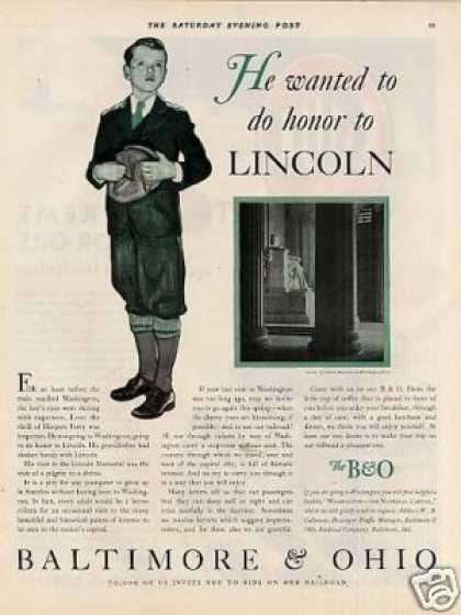 """Baltimore & Ohio Railroad Ad """"He Wanted To... (1931)"""