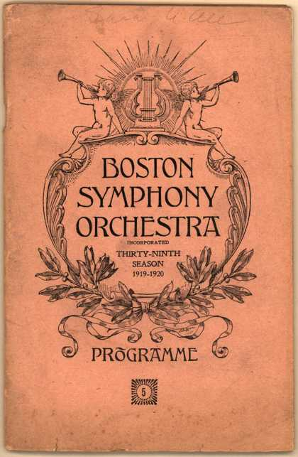 Assorted companie's assorted products – Boston Symphony Orchestra, Programme 5