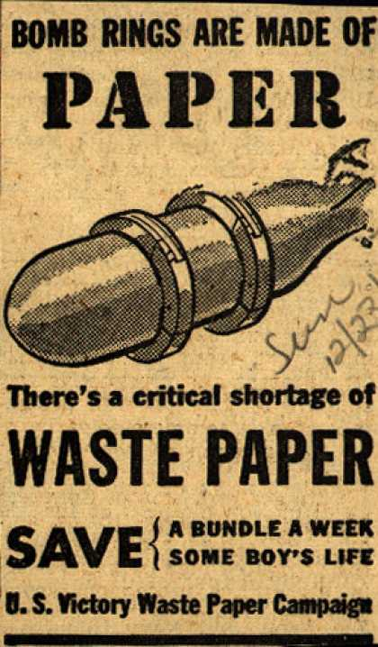 U. S. Government's Waste Paper – Bombings Are Made Of Paper (1943)