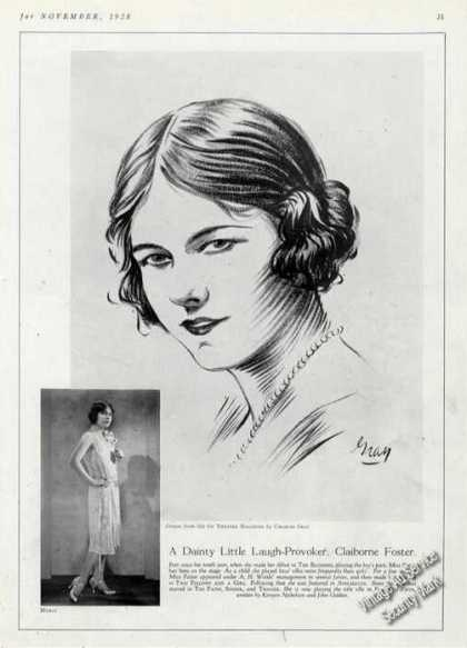 Claiborne Foster Print Photo & Drawing By Gray (1928)