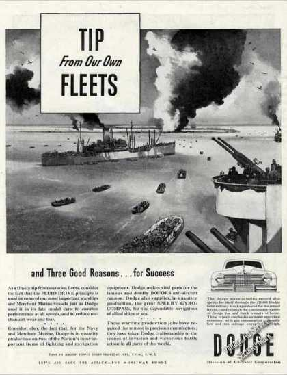 Wwii Navy Ships Art Collectible Dodge (1944)