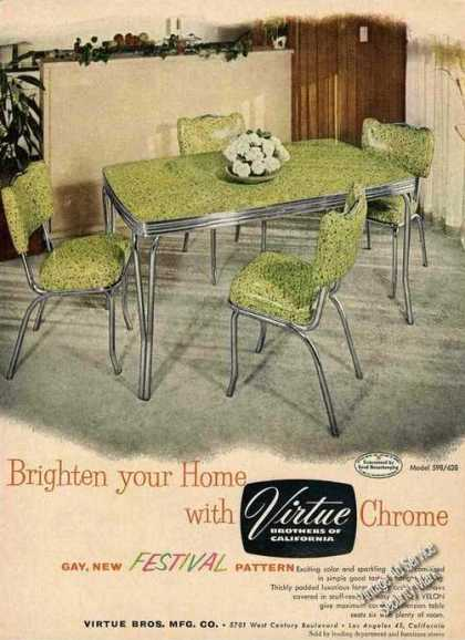 Virtue Brothers of California Chrome Table (1954)