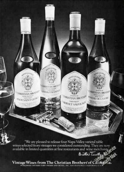 Wines From Christian Brothers Retro B&w (1979)