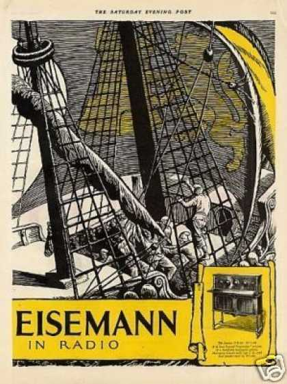 Freed-eisemann Radios Color Ad 2 Page (1925)