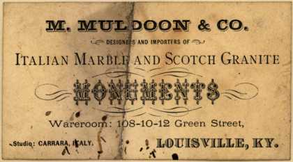 M. Muldoon & Co.'s Italian Marble and Scotch Granite Monuments – M. Muldoon & Co. Designers and Importers of Italian Marble and Scotch Granite Monuments