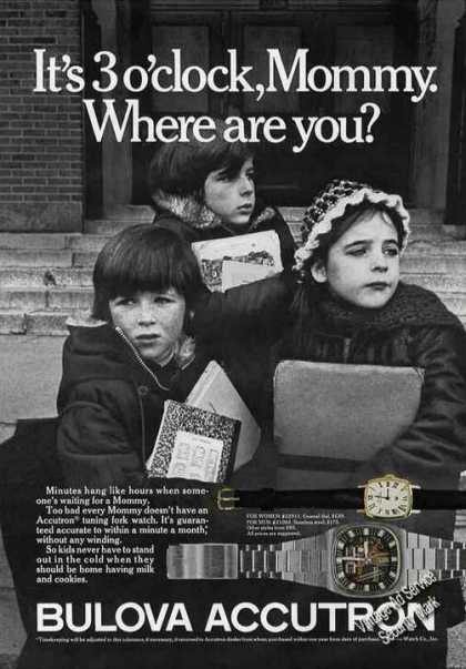 """Bulova Accutron """"Mommy Where Are You?"""" Kids (1975)"""