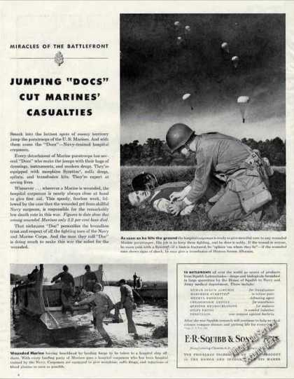 """Wwii Marine Paratroops """"Docs"""" Medical Corpsmen (1944)"""