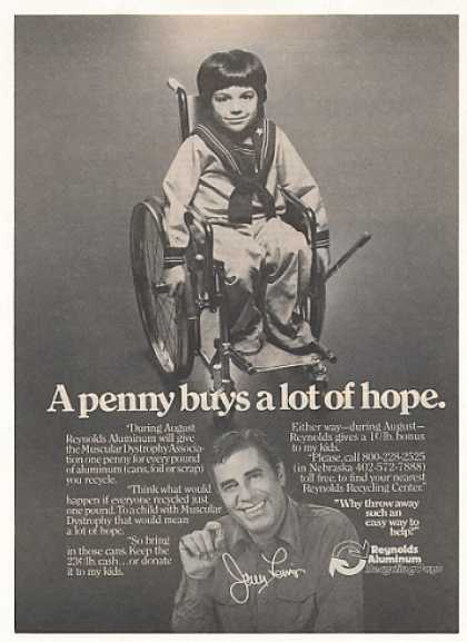 '79 Jerry Lewis Muscular Dystrophy Reynolds Aluminum (1979)