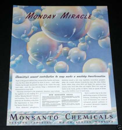 Old , Monsanto Chemical, Miracles (1939)