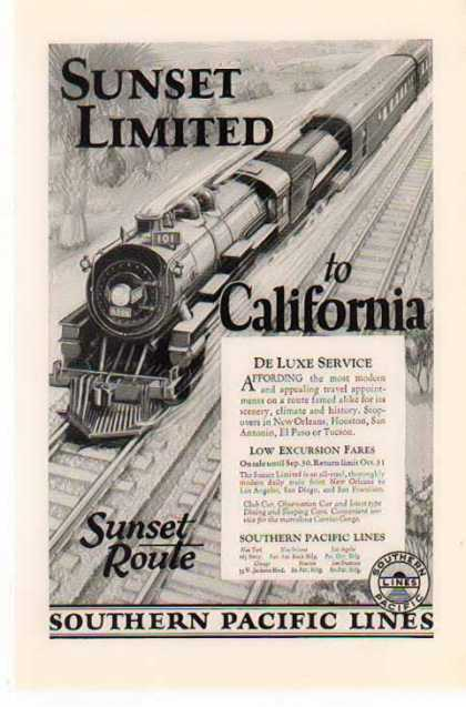 Southern Pacific Railroad – The 101 to California (1926)