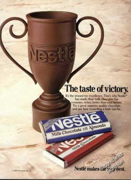Nestle Chocolate Victory Cup Advertising (1984)