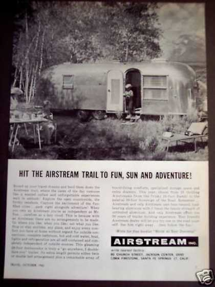 Airstream Travel Trailers Traveling (1962)