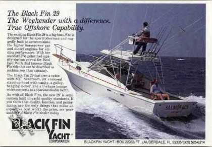 """Black Fin 29 """"Weekender With a Difference"""" Boat (1985)"""