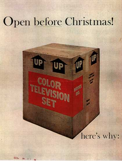 Open before Christmas! here's why: there's so much going on in NBC BIG COLOR TV... every night