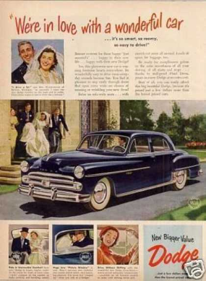 """Dodge Car Ad """"We're In Love... (1950)"""