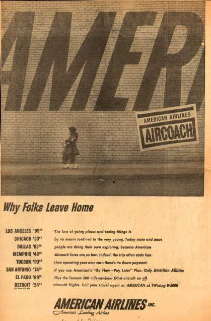 American Airlines – Why Folks Leave Home (1954)