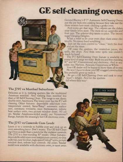 General Electric Self Cleaning Oven (1969)