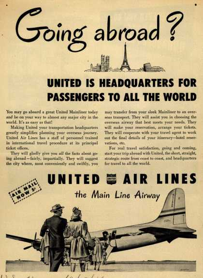 United Air Lines – Going abroad? (1946)