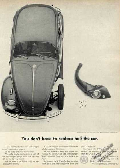 Vw Volkswagen Don't Replace Half the Car (1961)