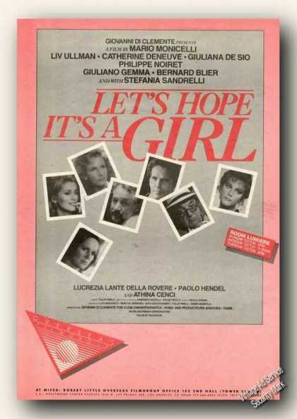 Let's Hope It's a Girl Movie Rare (1986)