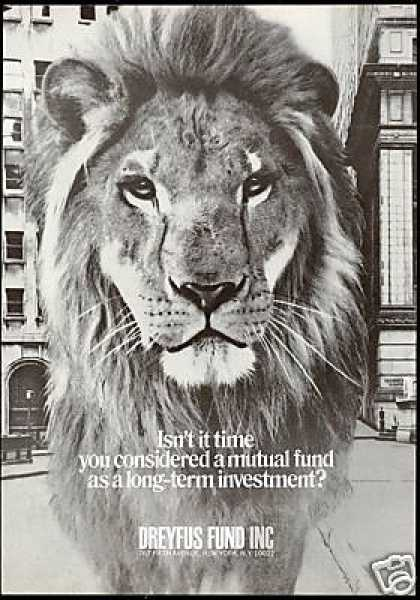 Dreyfus Mutual Fund INC Investments Lion (1971)
