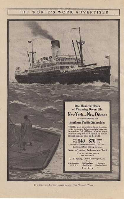 Southern Pacific Steamship's New York and New Orleans (1912)