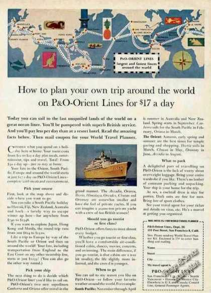 P&o-orient Lines Around the World for $17 a Day (1961)