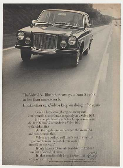 Volvo 164 Accelerate Quick Lasts for Years (1969)