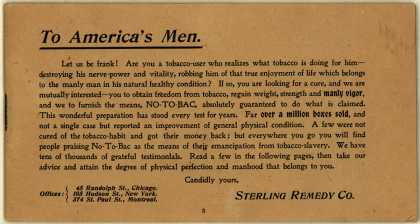Sterling Remedy Co.'s No-To-Bac – To America's Men