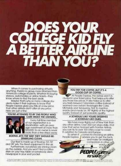 """""""Does Your College Kid Fly Better"""" Peoplexpress (1985)"""
