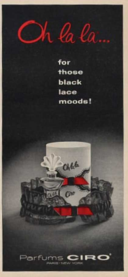 Ciro Parfums for Those Black Lace Moods (1964)