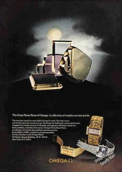 """Omega Watches """"Great Stone Faces"""" (1972)"""