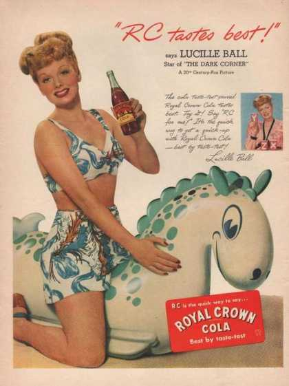 Royal Crown Cola Lucille Ball (1946)