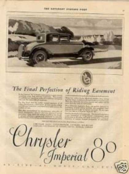 """Chrysler Imperial 80 Car Ad """"The Final Perfection (1926)"""