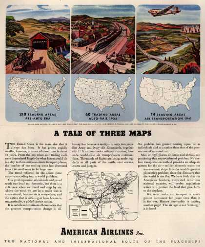 American Airline's Air Transportation – A Tale of Three Maps (1944)