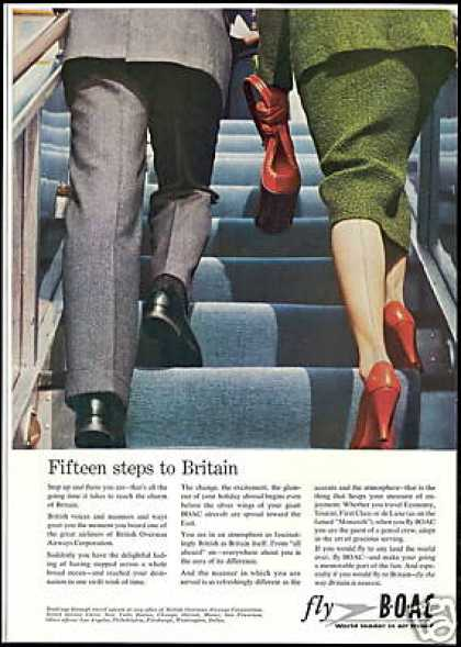 BOAC B O A C Airlines Steps to Britain (1958)