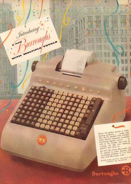 Burroughs Business Machines – Electric Operation Register (1952)