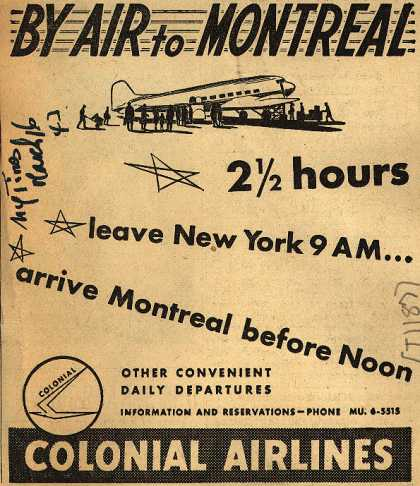 Colonial Airline's Montreal – By Air to Montreal (1943)