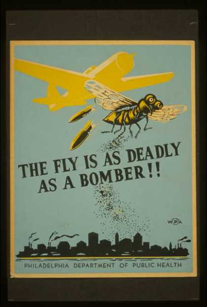 The fly is as deadly as a bomber!!. (1941)